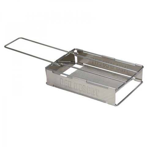 TOASTER - FOLD DOWN - STAINLESS STEEL - CAMPFIRE