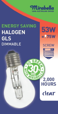 GLOBE - HALOGEN - ES - CLEAR - 53W - ENERGY SAVER