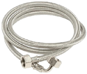 DISH WASHER/WASHING MACHINE HOSE - STAINLESS STEEL - 2 Metres