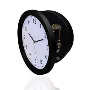 KEY SAFE - CLOCK SAFE  - BLACK