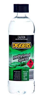 METHYLATED SPIRITS  - 1 LITRE -  DIGGERS