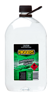 METHYLATED SPIRITS - 4 Litres - DIGGERS