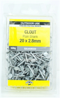 NAILS -  Clout Galv 20 x 2.8mm -  500G