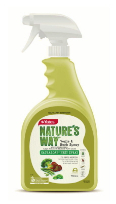 INSECTICIDE - ORGANIC - NATURES WAY NATRASOAP VEG & HERB PEST SPRAY -  750ml