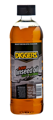 LINSEED OIL - RAW - 1 LITRE - DIGGERS