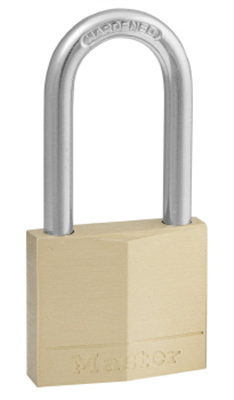 PADLOCK - BRASS -  LONG SHACKLE  - 40mm -  MASTER