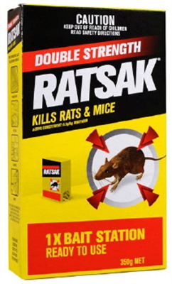 RATSAK - DOUBLE STRENGTH - BAIT STATION