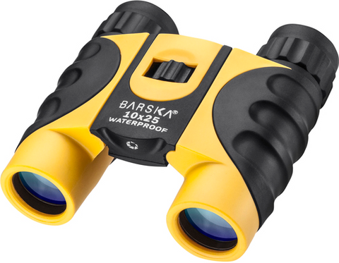 BINOCULARS - BARSKA  10x25 WATERPROOF COLORADO YELLOW