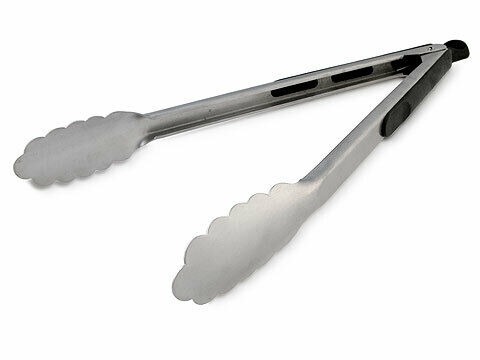 TONGS -  PROFESSIONAL -  STAINLESS STEEL - 30CM - HEAVY DUTY - LOCKABLE