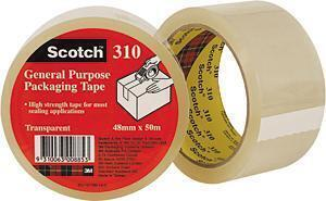 PACKAGING TAPE -CLEAR -  48mm x 50m - 3M