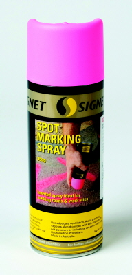 SPOT MARKING SPRAY PAINT FLUORO PINKS 350G SIGNET