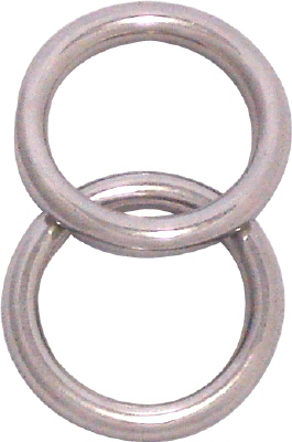 RING - WELDED MARINE GRADE STAINLESS STEEL  4x35mm PK2