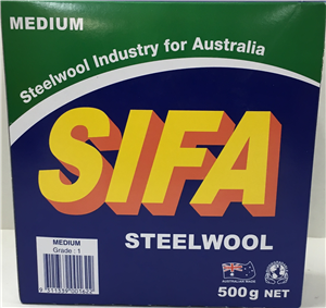 STEEL WOOL - MEDIUM  GRADE 1 -  500G