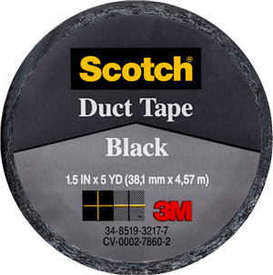 CLOTH/DUCT TAPE - BLACK -  38.1mm x 4.57m
