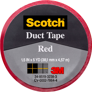 CLOTH/DUCT TAPE - RED -  38.1mm x 4.31m