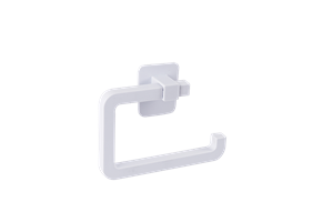 TOILET ROLL HOLDER - SELF ADHESIVE - WHITE