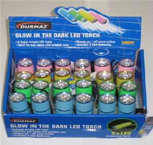TORCH - LED - GLOW IN THE DARK