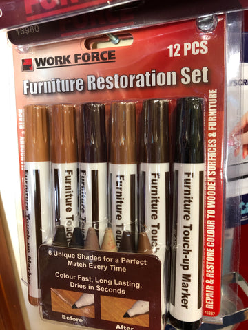 FURNITURE RESTORATION MARKER & FILLER SET - 12 PIECE