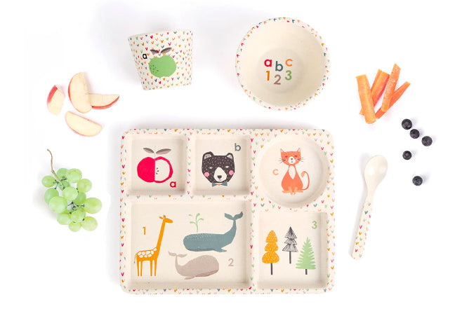 Love Mae - Divided Plate Set / ABC