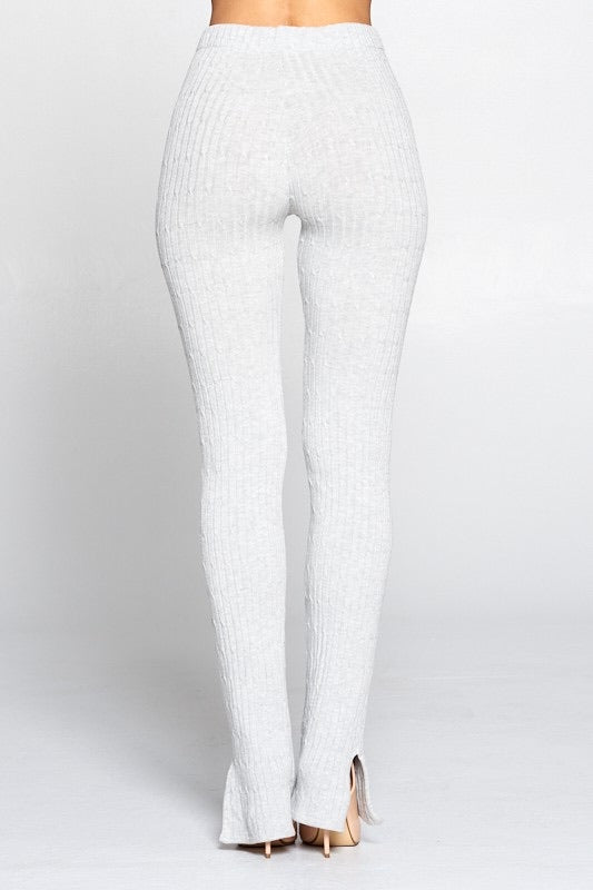 Knit High waisted Pants