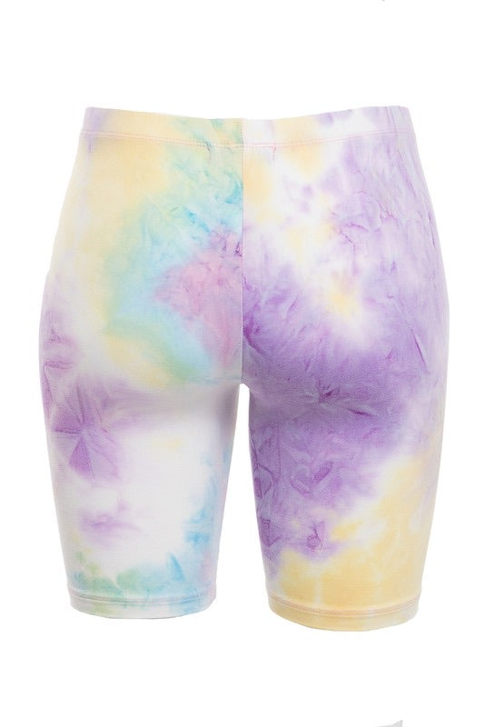 Living color biker shorts
