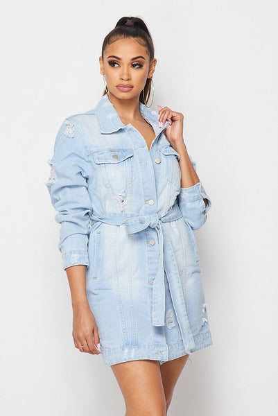 Fashion Tour Long Denim Jacket
