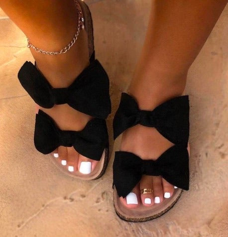 TWO-bow sandals
