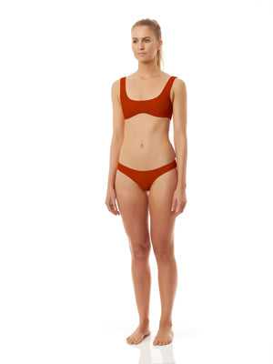 CRUZ SWIM BOTTOMS burnt orange-BIKINI BOTTOM-Seapia
