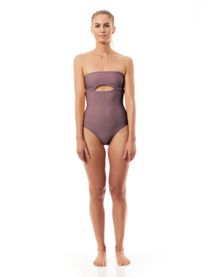 PUERTO ONE PIECE SWIMSUIT mocha-ONE PIECE SWIMSUIT-Seapia