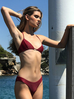 CIELO SWIM BOTTOMS vermillion red-BIKINI BOTTOM-Seapia