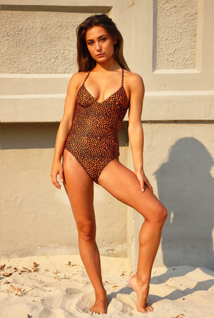 ALMA ONE PIECE SWIMSUIT spot print