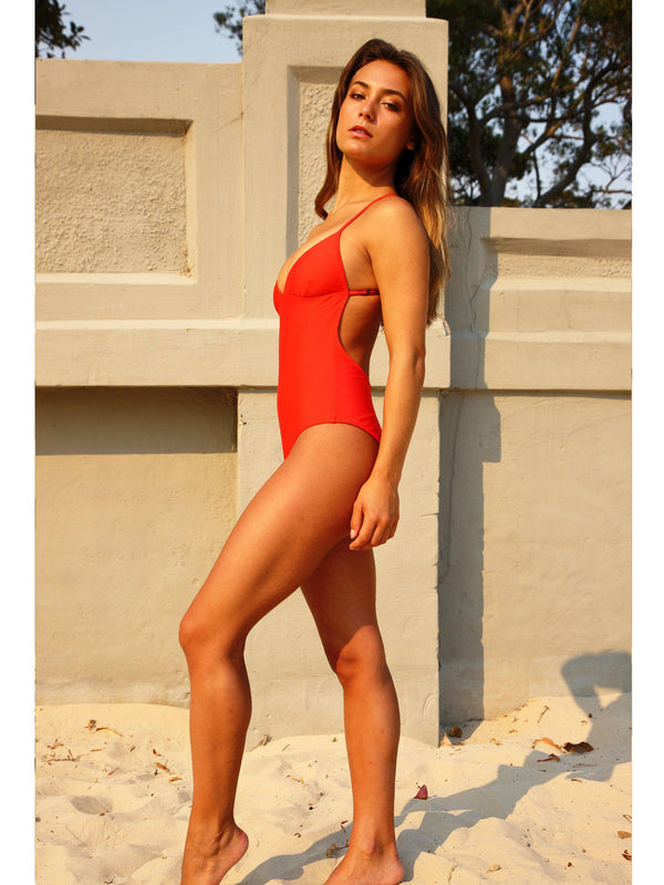 ALMA ONE PIECE SWIMSUIT scarlet red