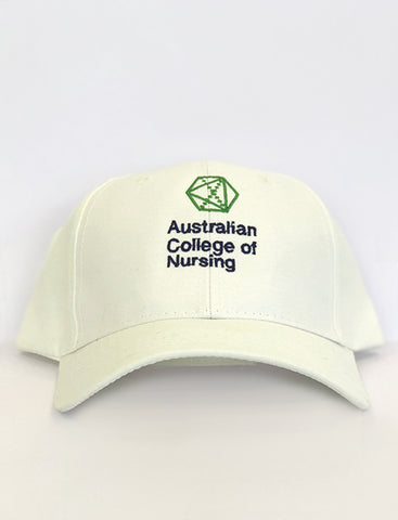 White cap - front view