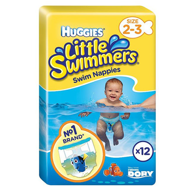 LITTLE SWIMMERS DISPOSABLE SWIM DIAPER SIZE 3-8KG - PACK OF 12