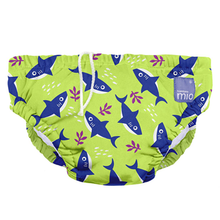 Load image into Gallery viewer, BAMBINO MIO REUSABLE SWIM DIAPER NAPPY - NEON SHARK - AMA BABY SHOP