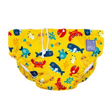 Load image into Gallery viewer, BAMBINO MIO reusable Swim diaper nappy - Deep sea yellow