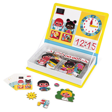 JANOD LEARN TO TELL THE TIME MAGNETI'BOOK - AMA BABY SHOP
