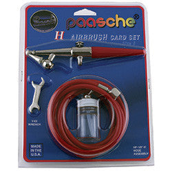 Paasche H-Card Set H#3. Single action, external mix airbrush.