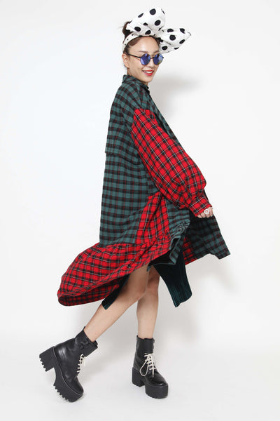 Two tone plaid jacket - whysocool