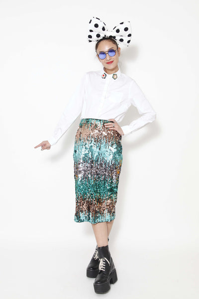 Glitter sequin pencil skirt - whysocool