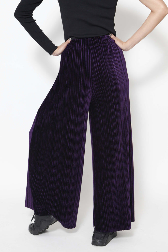 Purple velvet trousers - whysocool
