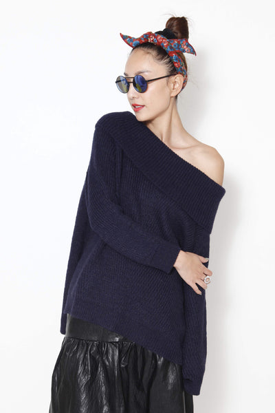 Off shoulders knitted top - whysocool