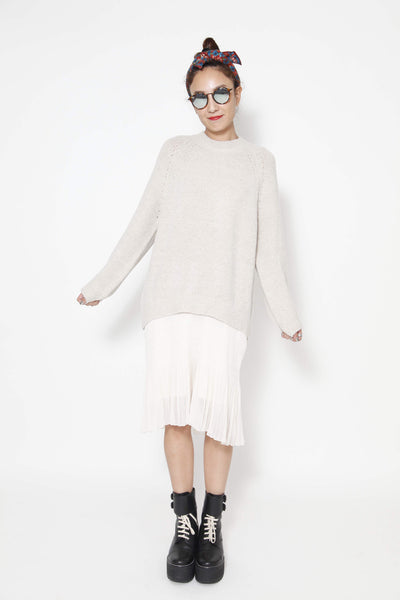2-fer midi Dress with long sleeve knitted top - whysocool