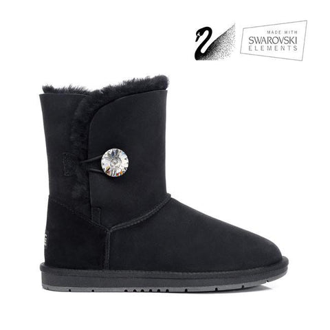 Crystal Short Button Boots