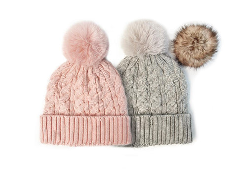 Maya Beanie with Exchangeable Pom Pom