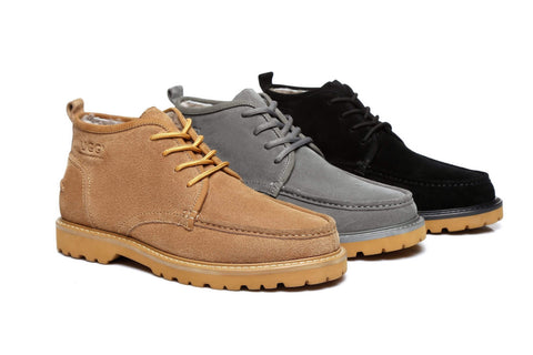 AS UGG Mini Boots Mens Lace up Shoes Justin (2145331445818)