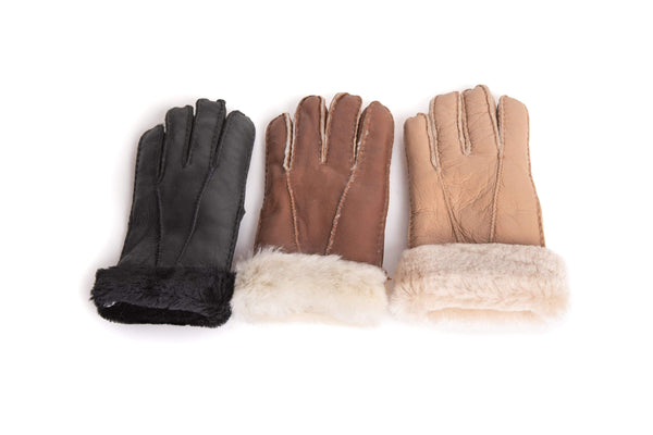 Gloves - UGG Stiching Gloves With Full Grain Leather ?id=14622750343226
