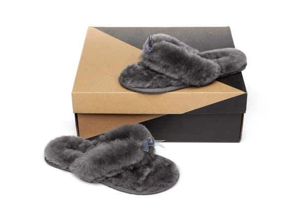 Slippers - AS UGG Women Fluffy Slides Thongs Cinderella ?id=14128840310842