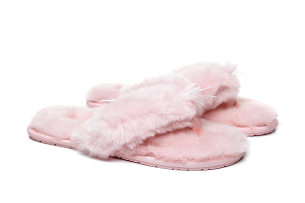 Slippers - AS UGG Women Fluffy Slides Thongs Cinderella ?id=14128840343610
