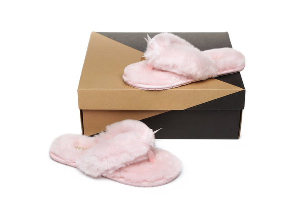 Slippers - AS UGG Women Fluffy Slides Thongs Cinderella ?id=14128841556026